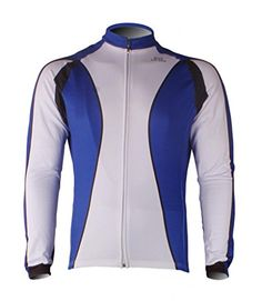 Kukaze Mens Fleece Thermal Winter Long Sleeve Cycling Jersey Bicycle Shirts  -- Visit the image f2c888635