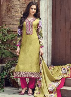 011b69cf8 Refreshing Light Green Coloured Pashmina Printed Indian Designer Salwar Suit  At Best Price By Uttamvastra - · Buy Salwar Kameez OnlineBuy ...