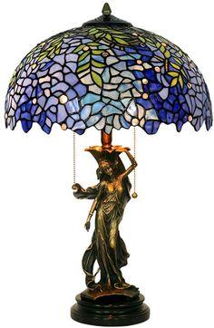Yilingqi-1 Wisteria Amore Tiffany Lampada da Tavolo in Stile Lampada da Tavolo Femminile Pure-Rame Vetro di Base Soggiorno Luce della Tabella da Letto Comodino: Amazon.it: Casa e cucina