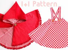 Hello Dear Kids: suspender skirt and red riding hood pattern. for sale on craftsy
