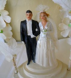 Vintage Wedding Cake Topper by cyndalees on Etsy, $29.00