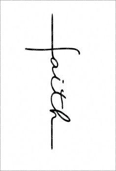 Faith Cross svg, Faith Cross cut file, faith cross clipart, faith svg, cut files for cricut silhouet Tatoo Faith, Faith Cross Tattoos, Small Cross Tattoos, Cross Tattoos For Women, Small Tattoos With Meaning, Small Tattoos For Guys, Cute Small Tattoos, Unique Small Tattoo, Enough Tattoo