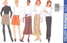 BUTTERICK 5279 - FROM 1997 - UNCUT - MISSES PETITE SKIRT