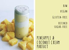 vegan pineapple & coconut cream parfait / the perfect, refreshing fruity treat ready in only 5 minutes!