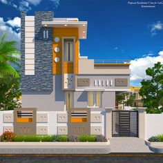 Readymade independent Duplex House in Kumbakonam for Sale and Occupation House Balcony Design, House Floor Design, House Outside Design, Village House Design, Kerala House Design, Bungalow House Design, Small House Design, Front Wall Design, Door Design