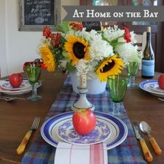 At Home on the Bay - Falling for Vintage home tour