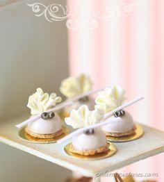 112 Dollhouse Miniatures - Lavender Dome Dessert