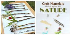 Nature Art for Kids - Nature Paint Brushes and Craft Materials