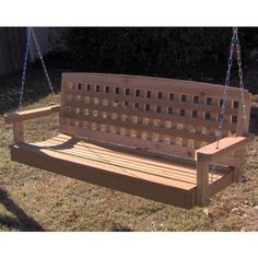 tmp outdoor furniture decorative red cedar solid wood swing porch