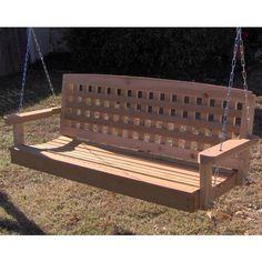 Pergola In Front Yard Product Pergola Swing, Cheap Pergola, Pergola Patio, Pergola Kits, Bench Swing, Pergola Ideas, Cedar Furniture, Porch Furniture, Garden Furniture