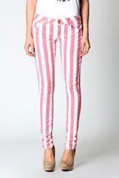 Lola Striped Skinny Jeans