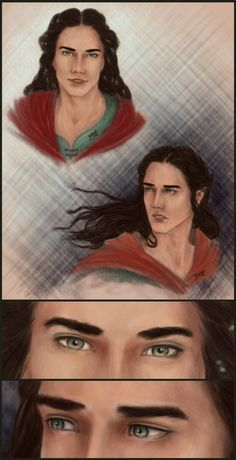 Maglor Before and After by Nenesta on deviantART<<<Did you ever just want to go up to a fictional character and hug them?  Comfort them?  Even if you haven't been through what they have? (Before and after...what exactly?  The Fall of the Noldor?)