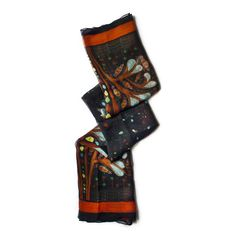 GOND ART SCARVE  Buy Here -http://madinindia.in/collections/scarves/products/gond-art-scarve MRP - Rs 1450