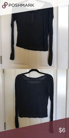 brandy melville blue long sleeve never worn brandy melville long sleeve blue shirt Brandy Melville Tops Tees - Long Sleeve