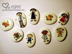 I love this idea for a quick inexpensive play therapy family. I so want to do this now!