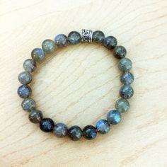 Labradorite Semi-Precious Gemstone Stretch Beaded Bracelet | Crystal Healing Chakra Bracelet to help Develop Intuition and Creativity Healing Bracelets, Gemstone Bracelets, Chakra Bracelet, How To Make Beads, Semi Precious Gemstones, Crystals And Gemstones, Labradorite, Reiki, Crystal Healing