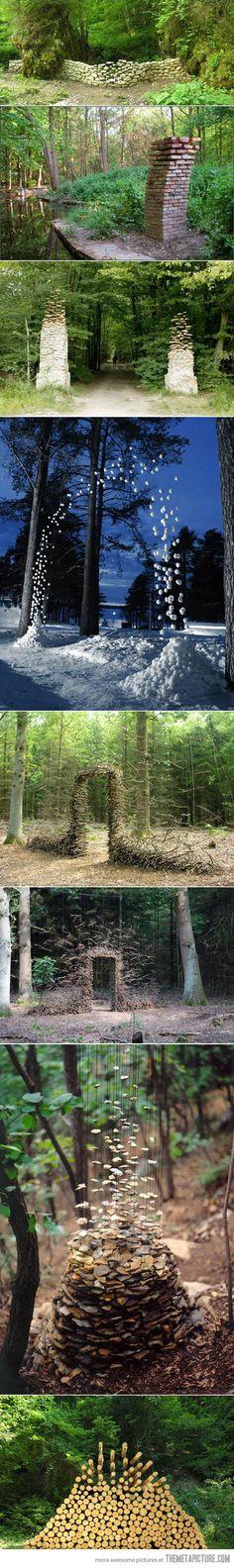 Gravity-defying sculptures…