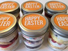 Cupcakes in a jar mason jars cupcakes for ms ms awareness month 6 8oz cupcakes in a jar mason jars happy easter orange easter sweets easter easter gifts jellybeans easter favors spring negle Image collections