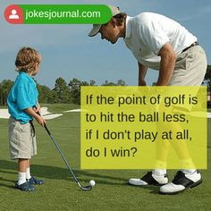 """#Joke: Kathy said to her friend, """"I just don't understand the attraction golf holds for men...""""   Quick access to the joke: http://www.jokesjournal.com/golf-questions/ #GolfJokes #humor"""