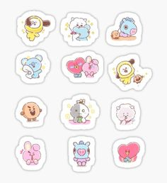 Buy Baby MANG Set' by as a Sticker, Transparent Sticker, or Glossy Sticker Pop Stickers, Tumblr Stickers, Kawaii Stickers, Printable Stickers, Bts Book, Korean Stickers, Kpop Diy, Bts Drawings, Journal Stickers