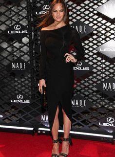 Christine Teigen para o evento da montadora Lexus na semana de moda de Nova York AMY SUSSMAN / INVISION FOR LEXUS