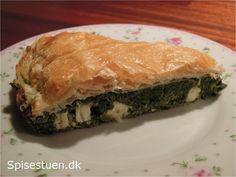 spinattærte-med-fetaost Spanakopita, Vegan, Ethnic Recipes, Food, Meals, Yemek, Eten