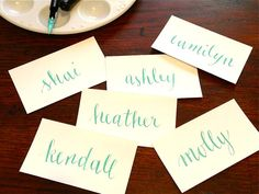 beautiful calligraphy by letterbeonetsy ... recognize the names?  #bffs