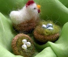 So cute.  Acorn cap nests