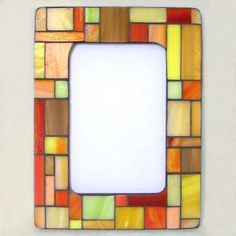 'Pastiche' Mosaic Frame (Day Lily) - by Smash Glassworks
