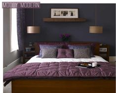 Bedroom,Interior Design Color Scheme Purple For Bedrooms With Minimalist Fashion Glass Ceiling Lamp Chandelier,Popular Color Schemes For Bedrooms