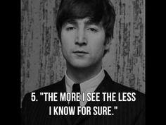 10 Beautiful Thoughts by John Lennon - YouTube