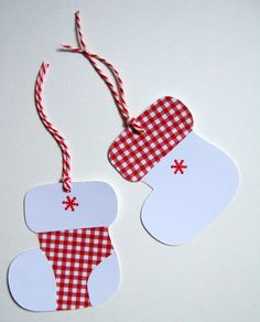 Christmas Stocking Gift Tags - FREE POSTAGE £1.60