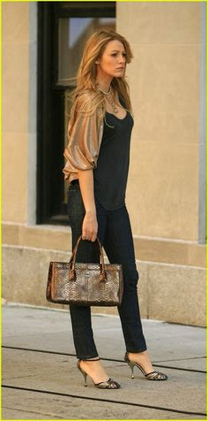 Blake Lively Style - Black and Gold