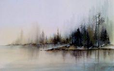 Artiste Hanna Jakobsen. paysages à l'aquarelle