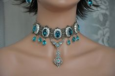 Bridal Choker NecklaceSwarovski Crystal by cynthiacouture on Etsy, $489.00