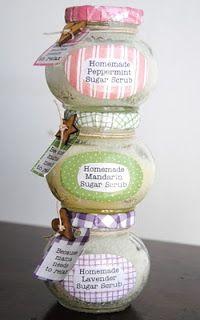 Homemade Sugar Scrub in Decorated Jars tutorial with sugar scrub recipe Craft Gifts, Diy Gifts, Diy Beauté, Diy Spa, Easy Diy, Do It Yourself Baby, Sugar Scrub Homemade, Homemade Deodorant, Decorated Jars