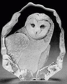 Mats Jonasson Crystal Barn Owl - MJ 33538