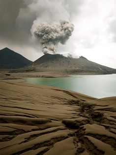 Tavurvur volcano near Rabaul in Papua New Guinea   - for more inspiration visit http://pinterest.com/franpestel/boards/