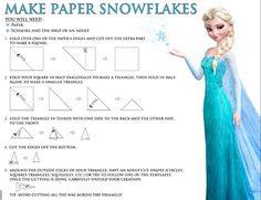 Photo of Frozen make paper snowflakes for fans of Disney Frozen. Frozen (2013)