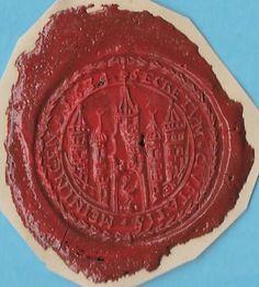 + 1634 Meiningen Baden Wurttemberg Germany Castle Towers Wax Seal Genuine Rare
