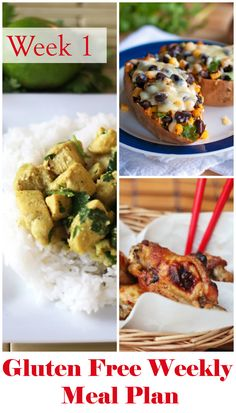 Gluten Free Dairy Free Weekly Meal Plan: This Gluten Free Dairy Free Weekly Meal Plan will feed a family of 2 adults and 2 children for $100. No couponing required! You'll also get to use your slow cooker several times to make things easier.