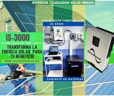 Así luce el #Inversor solar híbrido IS-3000 DataShield conectado y operando junto al Gabinete de Baterías #energíarenovable #energíasustentable #energíasolar De venta en www.inversorsolar.mx/serieis.html Sistema Solar, Off The Grid, Html, Solar Inverter, Solar Charger, Renewable Energy, Solar Power, Products, Solar System