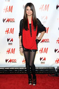 Selena Gomez Beaded Dress - Selena Gomez Looks - StyleBistro