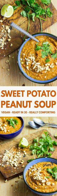Amazingly Quick and Healthy Vegetarian Sweet Potato Soup | hurrythefoodup.com