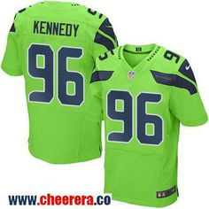Men's Seattle Seahawks #96 Cortez Kennedy Green 2016 Color Rush Stitched NFL Nike Elite Jersey