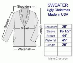 measuring a sweater