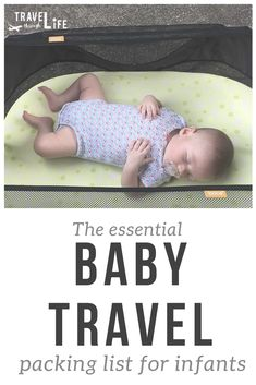 We've created our very own baby travel packing list for infants and want to share it with you. Because when you're traveling with an infant (0 to 6 months), you probably think you'll need a million things. But really, you don't and we'll show you the things you really need for an adventure with your little one.  #baby #travel #packinglist