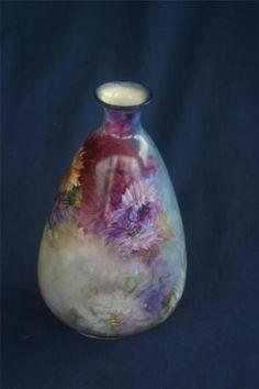 R C Floral vase. Additional backstamp: Germany. 20 cm