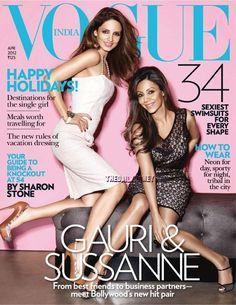 Bollywood actress Gauri Khan & Sussanne Roshan Vogue India April 2012