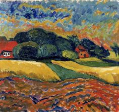 Before the thunderstorm, 1910Max Pechstein (1881-1995)  was a German expressionist painter and printmaker, and a member of the Die Brücke group.